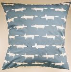 Cushion Cover in Scion Mini Mr Fox Navy Blue 16""